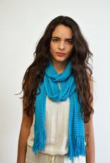Khipu Lang Gebreide Light Blauwe Sjaal