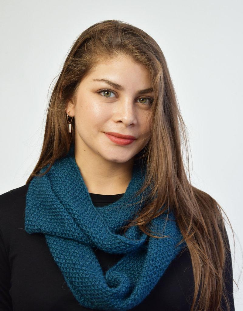 Khipu Petrol Blauw Infinity Sjaal