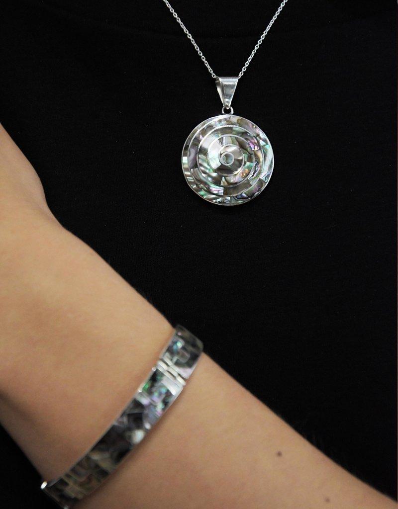Urin Huanca Grey Silver Bracelet