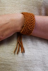 Saya Esperanza Woven Leather Bracelet