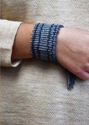 Saya Blue Suede Bracelet