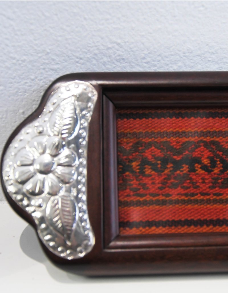 Urin Huanca Silver, Textile and Wooden Tray