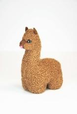 Brown Alpaca Stuffed Animal with tongue