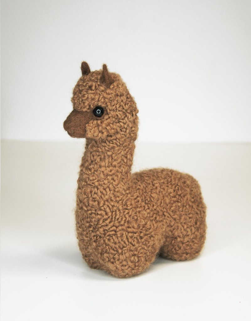 Brown Alpaca Stuffed Animal without tongue