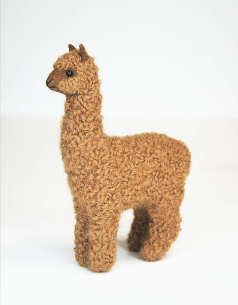 Brown Alpaca Stuffed Animal Standing