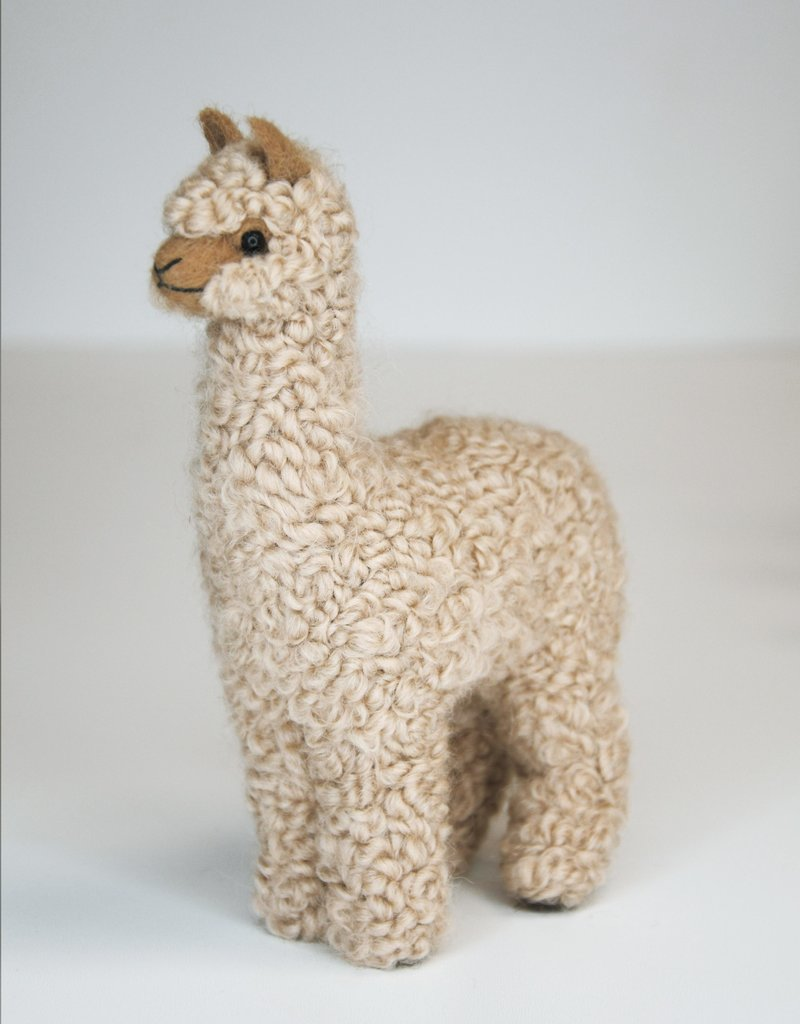 Beige Alpaca Stuffed Animal Standing
