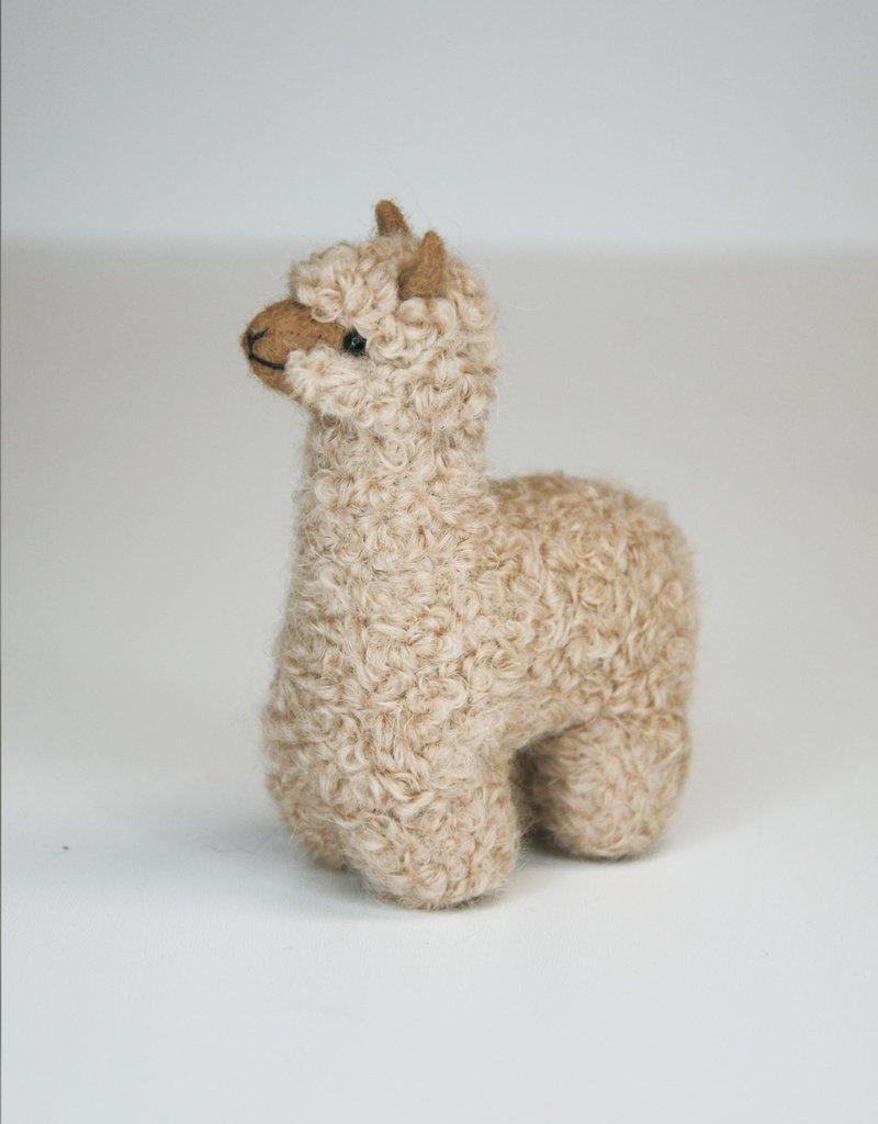 Small Beige Alpaca Stuffed Animal