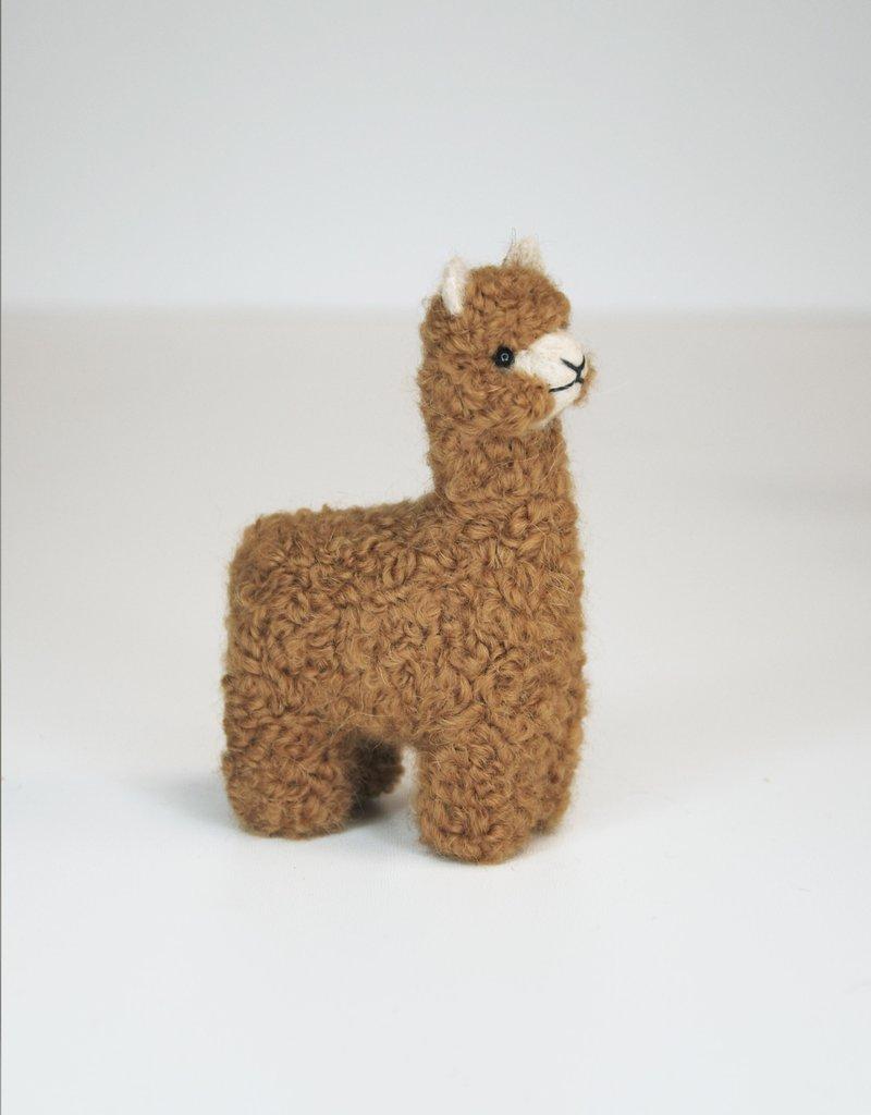 Kleine Bruin Alpaca Knuffel