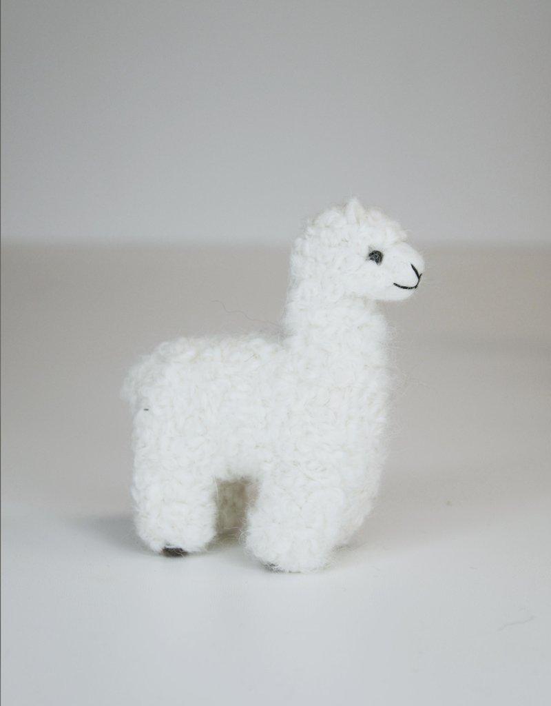 Small White Alpaca Stuffed Animal