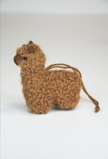 Small Brown Alpaca Stuffed Animal with dread