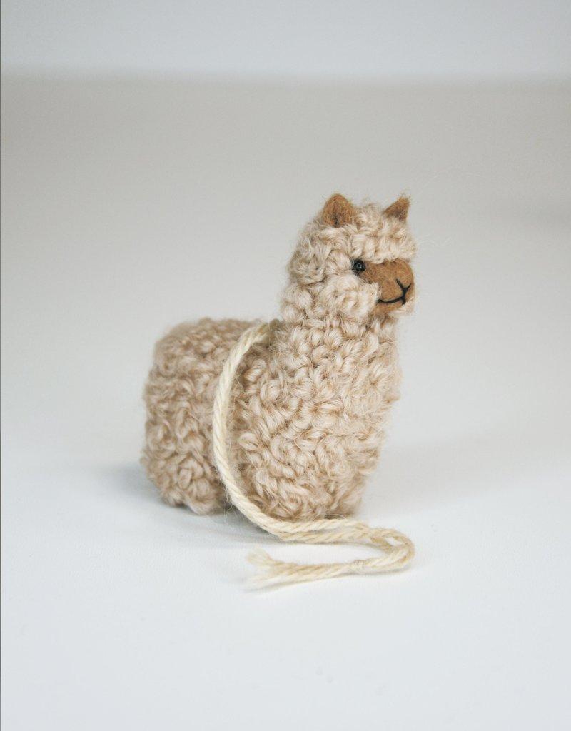 Small Beige Alpaca Stuffed Animal with dread