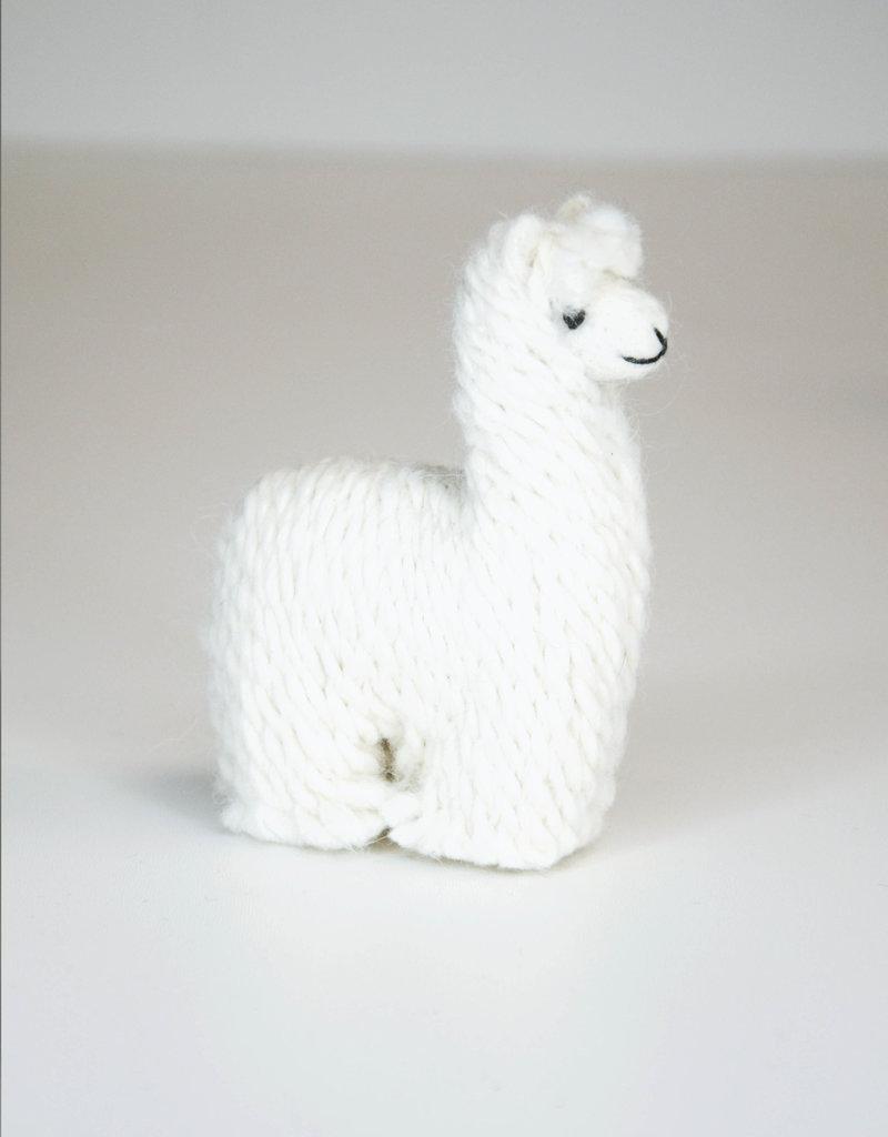 White Suri Alpaca Stuffed Animal