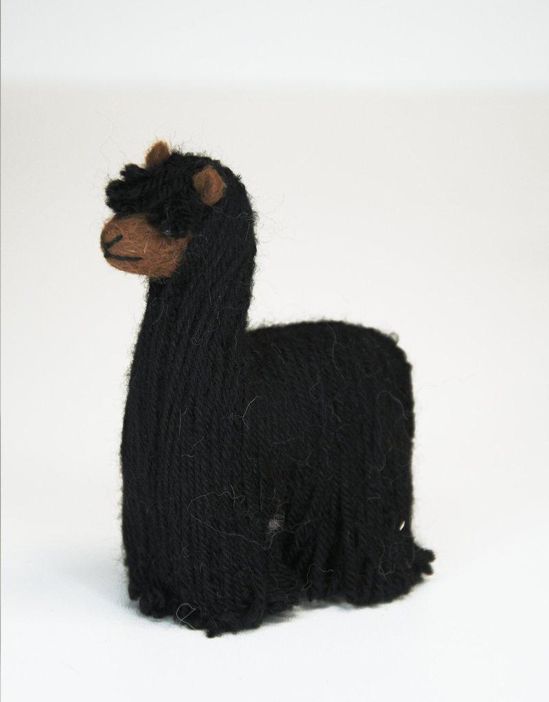 Black Suri Alpaca Stuffed Animal