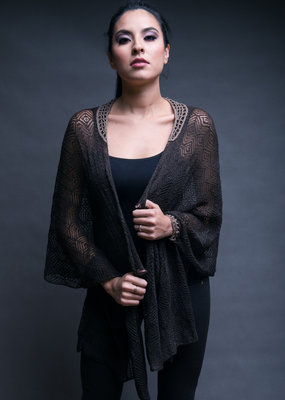 Fine Knitted Brown Cape
