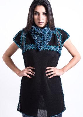 Black Knitted Tunic Dress