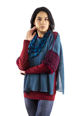 Blue Cherry Short-Sleeve Sweater