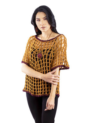 Short-Sleeve Knitted Sweater