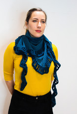 Baby Alpaca Triangle Knitted Scarf