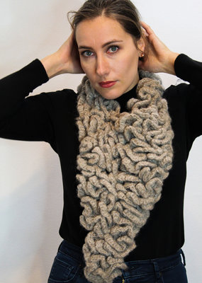 Triangle Bulky Knitted Cowl