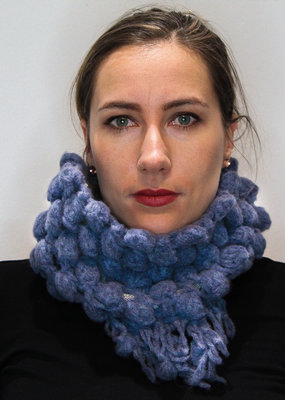 Cowl with Puffy Details