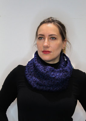 Bouclé Knitted Cowl