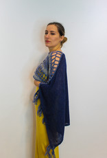 Two Colour Knitted Cape