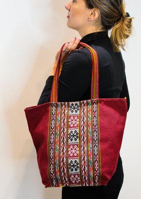 Khipu Red Woven Bag