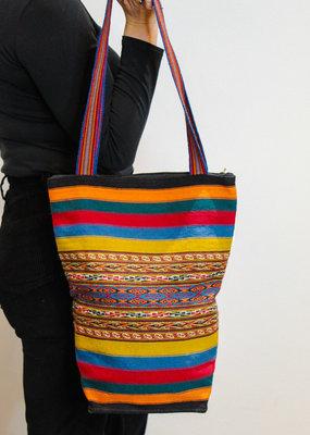 Khipu Yellow Woven Bag