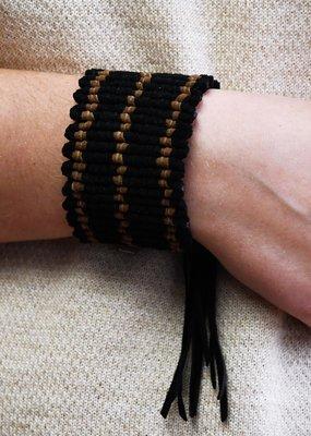 Saya Black Suede Bracelet