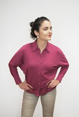 Wine Jarumi Cotton Shirt