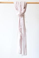 Mipaku Pink Rustic Scarf Baby Alpaca and Silk Scarf