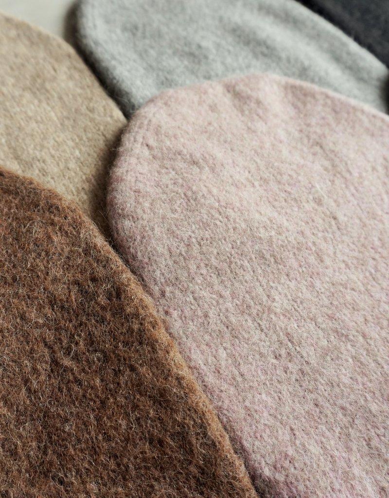 Norgäte Grey Felted Baby Alpaca Beanies
