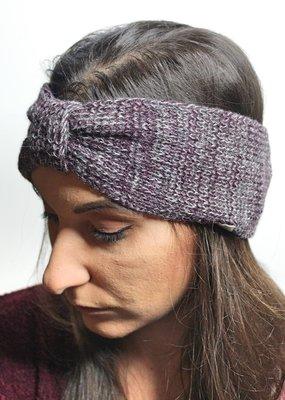 Norgäte Beige/Bordeaux Baby Alpaca Headband