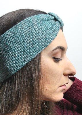 Norgäte Grey/Petrol Baby Alpaca Headband