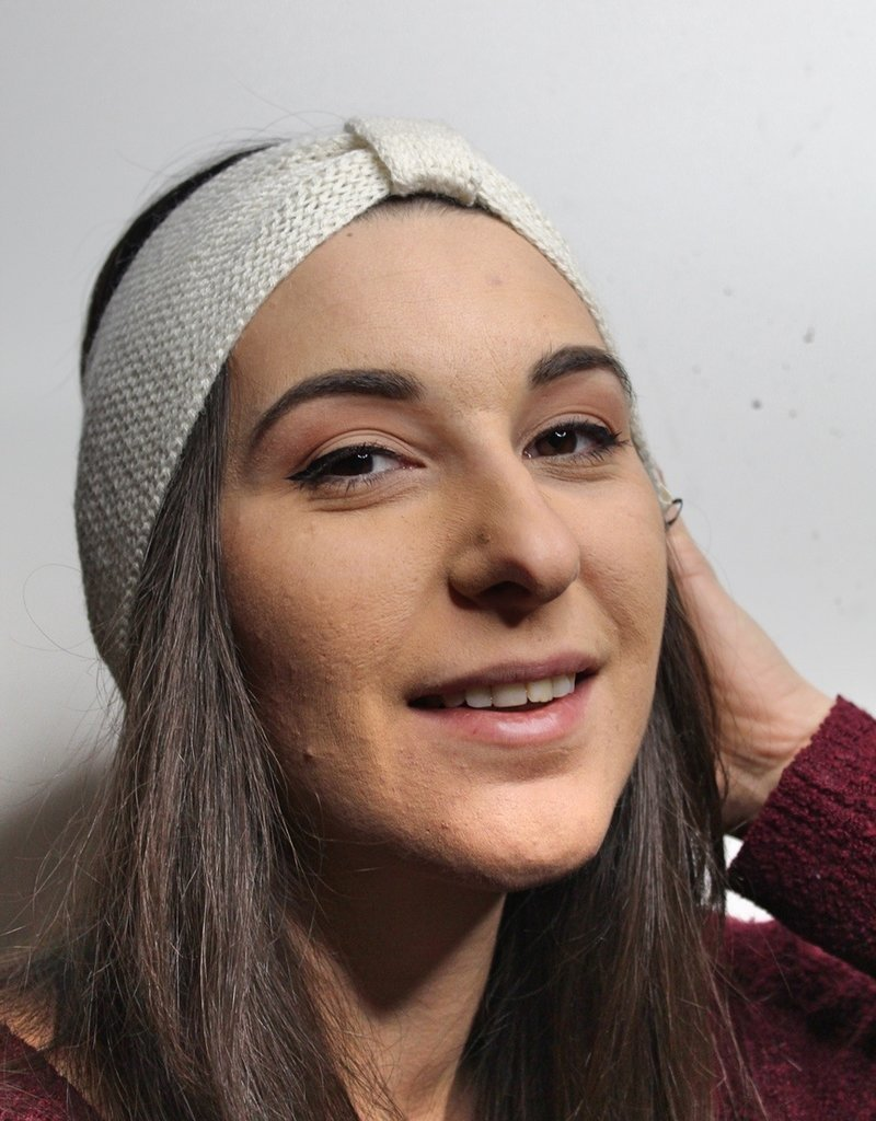 Norgäte Beige Baby Alpaca Headband