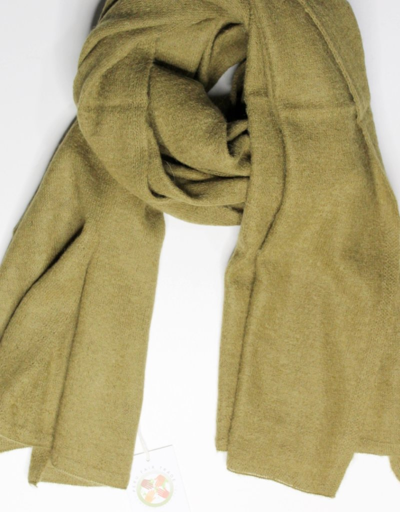 Mipaku Golden Olive Soft Basic Scarf
