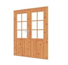 Douglas deur dubbel met raam