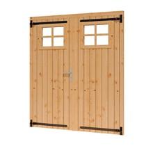 Douglas opgeklampte deur dubbel 169x202cm met raam excl h&s