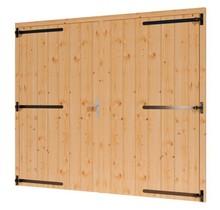 Douglas opgeklampte deur dubbel 253x220cm  excl h&s XL