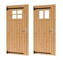 Douglas opgeklampte deur enkel met raam 91x202cm LD excl h&s