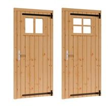 Douglas opgeklampte deur enkel met raam 91x202cm RD excl h&s