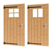 Douglas opgeklampte deur enkel met raam 106x202cm LD excl h&s