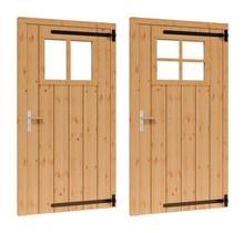 Douglas opgeklampte deur enkel met raam 106x202cm RD excl h&s