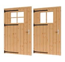 Douglas opgeklampte deur enkel met raam 133x220cm XL excl h&s LD