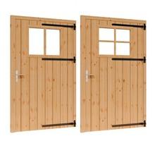 Douglas opgeklampte deur enkel met raam 133x220cm XL excl h&s RD