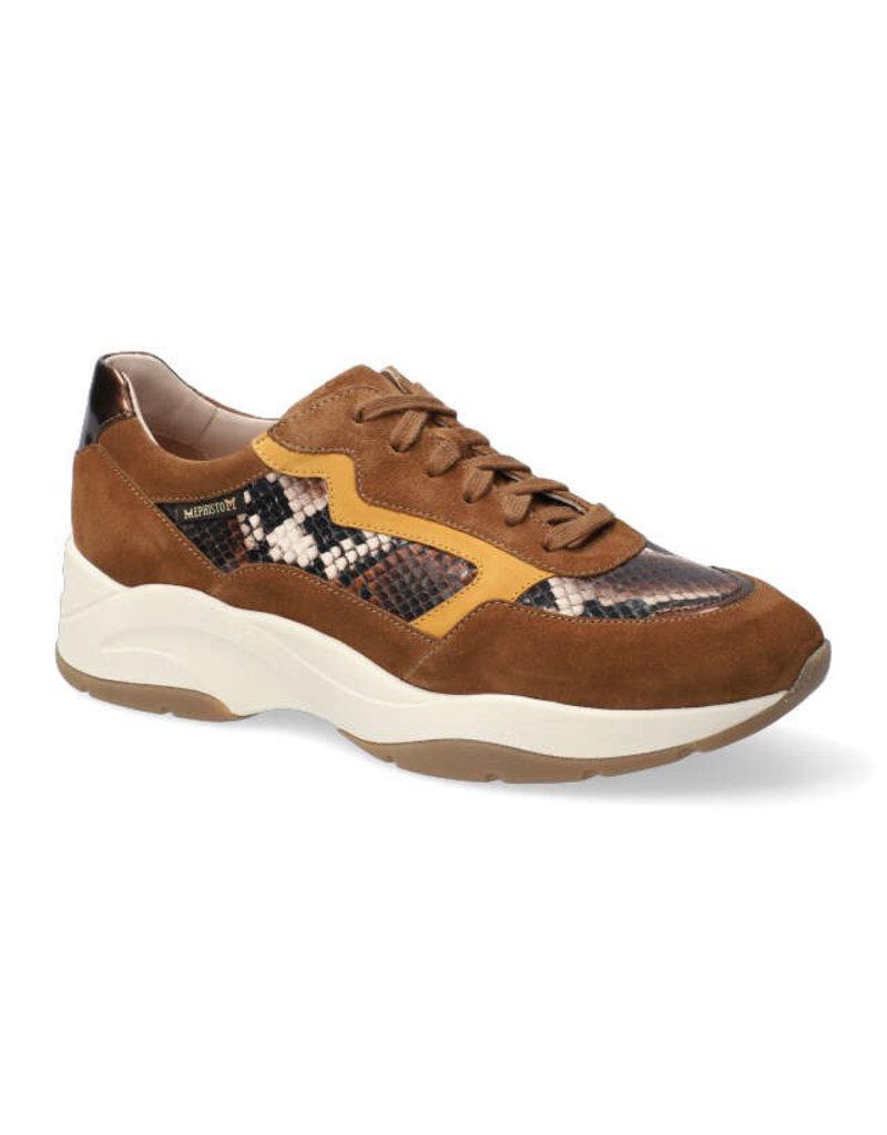 Mephisto ROMANE boa bruin suède sneaker