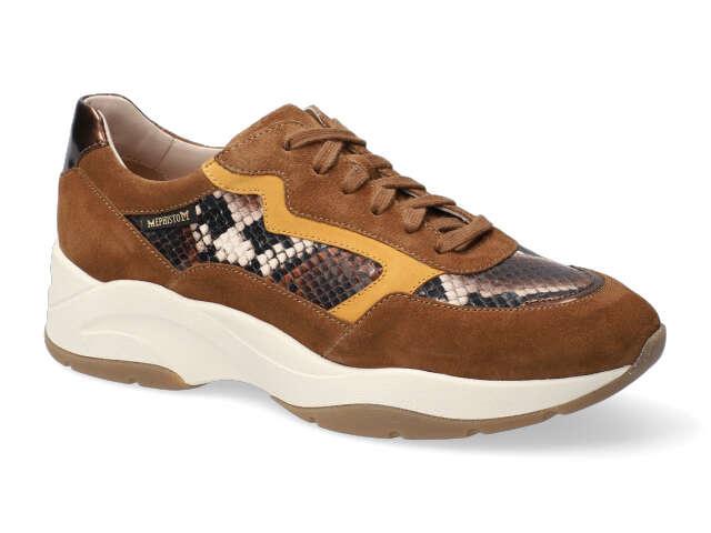ROMANE boa bruin suède sneaker