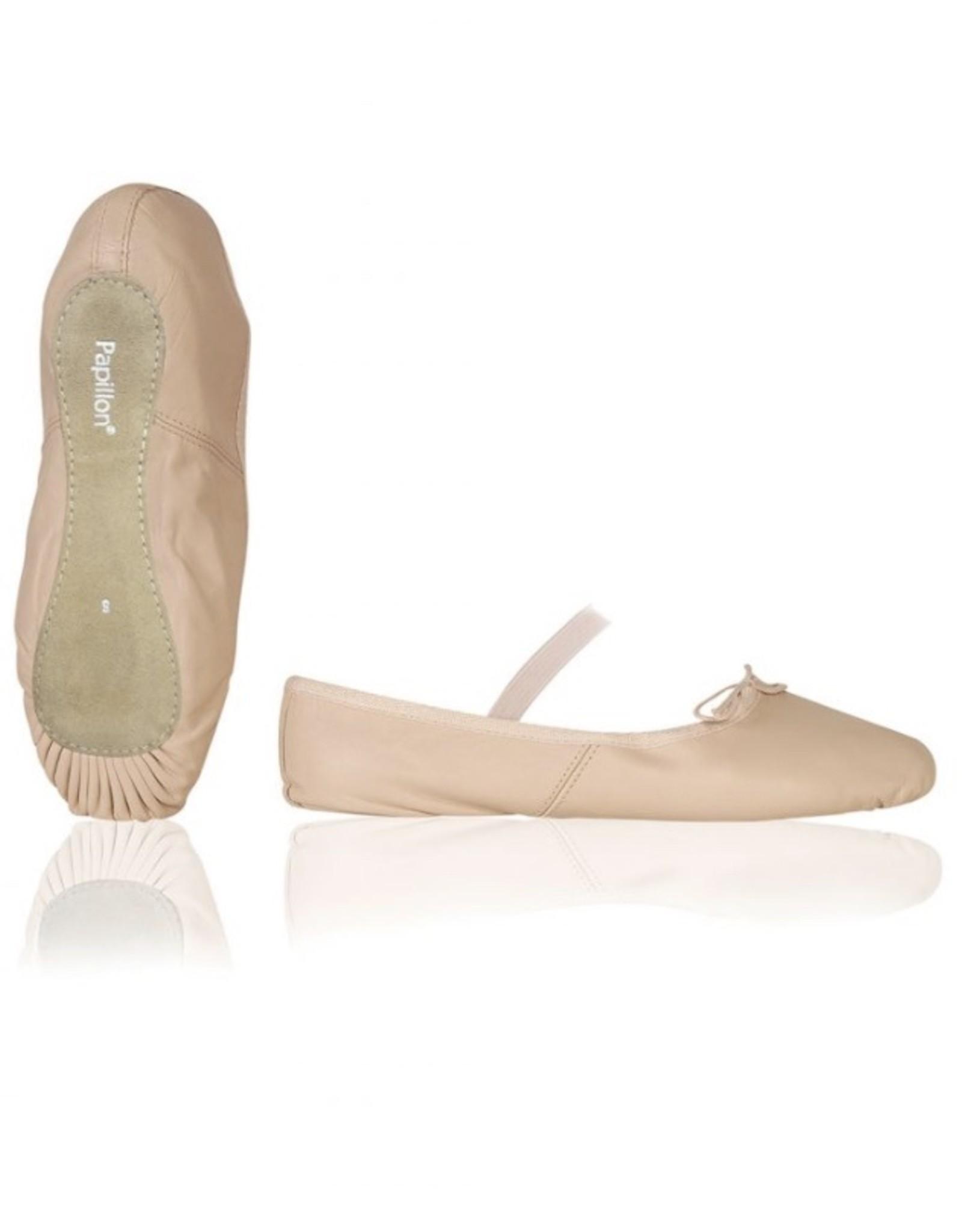 Le Papillon Roze lederen balletschoenen (PK1000)