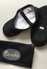 Sansha Zwarte balletsloefjes Sansha Tutu Split 5C