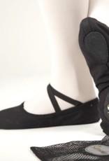 Sansha Zwarte balletsloefjes Sansha Pro 1C